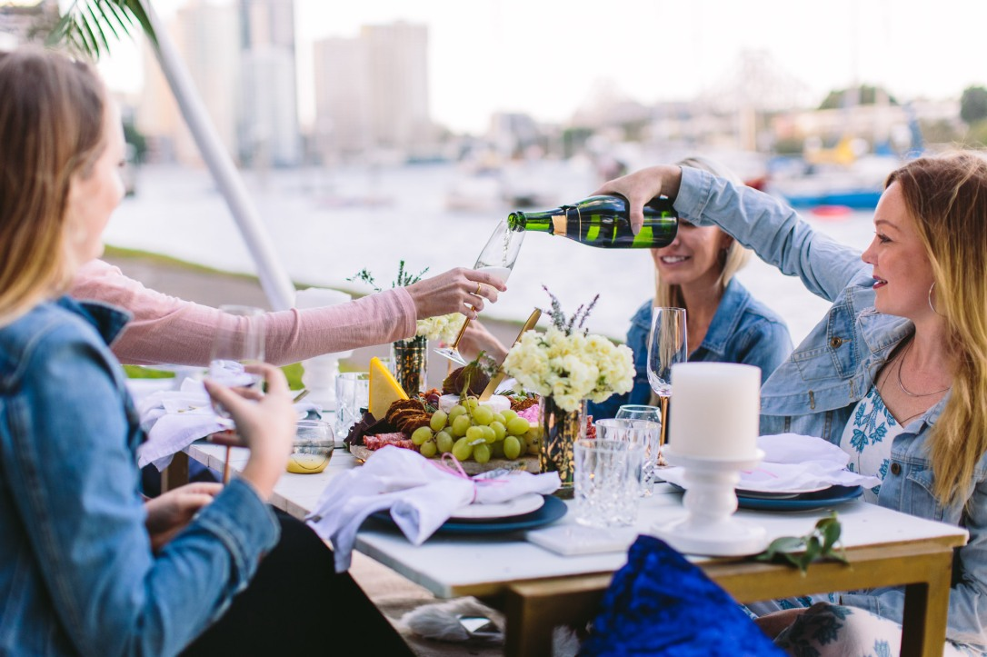 birthday party ladies luxury picnic