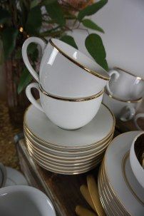 Gold Trim Tea & Coffee