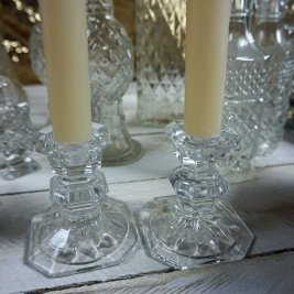 crystal cut candle holder