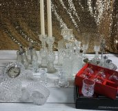 crystal cut glass prop hire