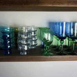 Green Blue Glassware (50)