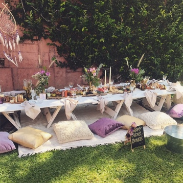 Boho Picnic Set Up Brisbane