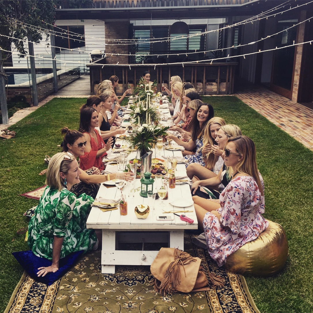 ladies lunch boho picnic