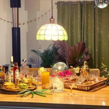 Boho Disco House Party Bar