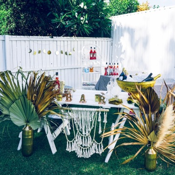 Boho Pop up Bar