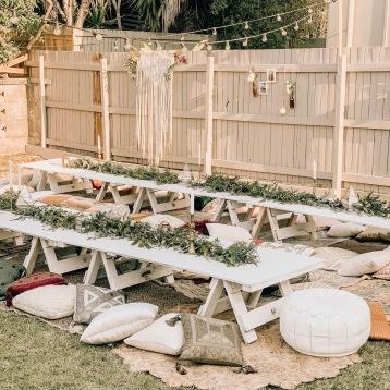Luxury Picnic Backyard Wedding